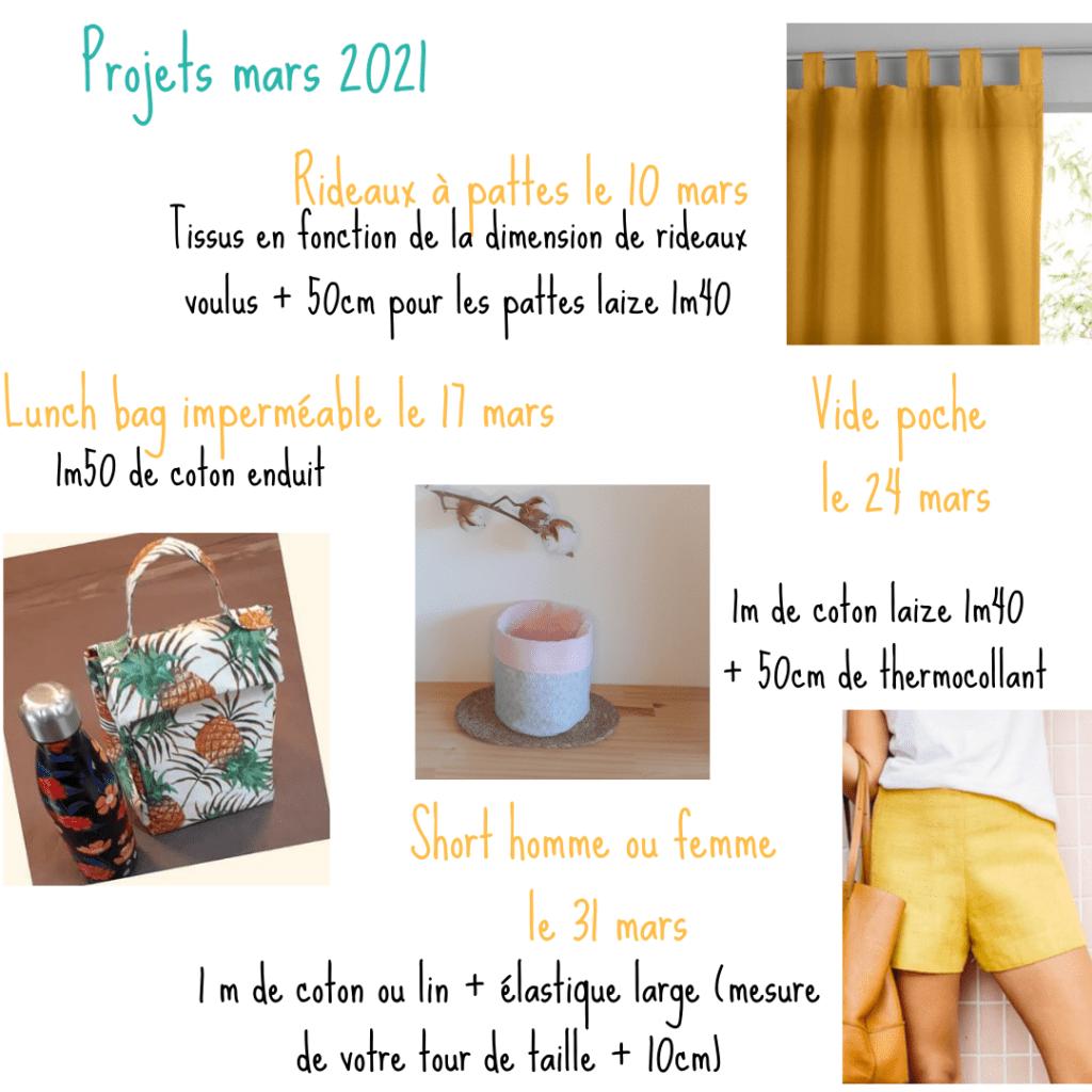 Atelier de couture Mars 2021